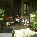 B&B - The Village House terrace, Gabian, France
